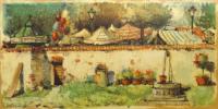 Quadro di  Tessoni - Circo al di là del muro mista faesite