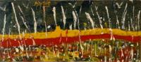 Quadro di Mauro Mari (Maris) - Terra vigorosa smalto tavola