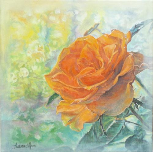 Quadro di Andrea Alfani  Profumo di rosa  - olio tela
