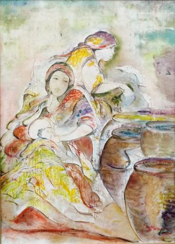 Quadro di Berenice Russo  Figure femminili - olio tela