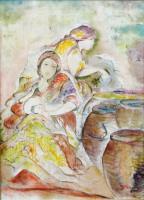 Quadro di Berenice Russo  - Figure femminili olio tela