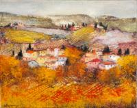 Quadro di Luciano Pasquini - Paesaggio olio tela