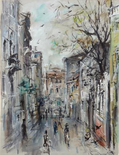 Quadro di Bruno Martini  Paesaggio  - olio carta