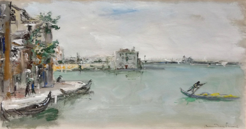 Art work by Bruno Martini  Laguna di Venezia  - oil paper