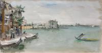 Quadro di Bruno Martini  - Laguna di Venezia  olio carta