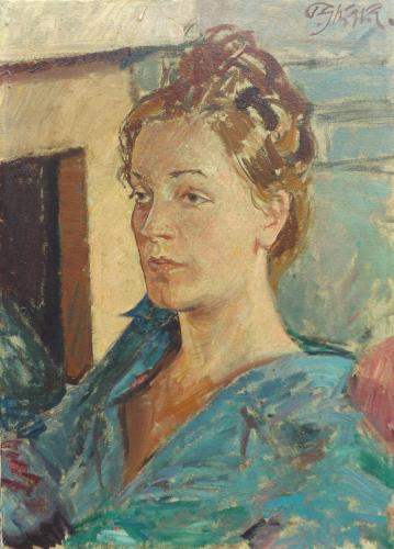 Quadro di Paulo Ghiglia Ritratto femminile  - olio tela