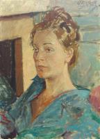 Quadro di Paulo Ghiglia  Ritratto femminile