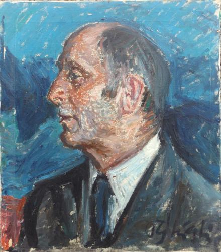 Quadro di Paulo Ghiglia Ritratto maschile  - olio tela