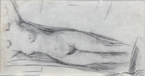 Quadro di Paulo Ghiglia Nudo senza volto - matita carta