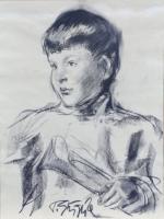 Quadro di Paulo Ghiglia  Ritratto di bambino