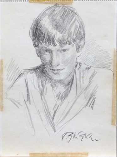 Quadro di Paulo Ghiglia Ritratto  - lapis carta