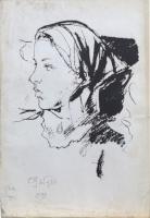 Quadro di Paulo Ghiglia  Figura di donna