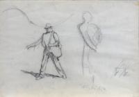 Quadro di Paulo Ghiglia  Figura con ombra