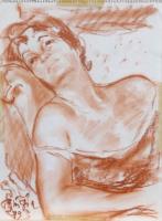 Quadro di Paulo Ghiglia  Ritratto di donna