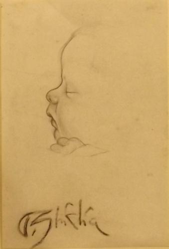 Quadro di Paulo Ghiglia Bebè - lapis carta