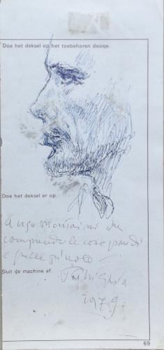 Quadro di Paulo Ghiglia Schizzo - penna biro carta
