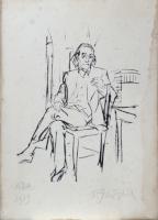 Quadro di Paulo Ghiglia  Figura seduta