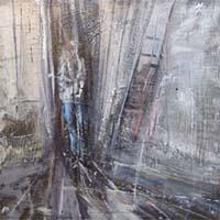 Quadro di Riccardo Luchini - Interno figura  olio tavola