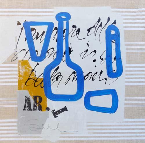 Quadro di Marcello Scarselli Il rumore della materia  - mista tavola