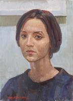 Quadro di Irop Manbroh  Ritratto di donna