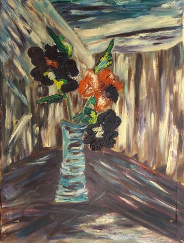 Work of  Anonimo 900 - Vaso con fiori oil canvas