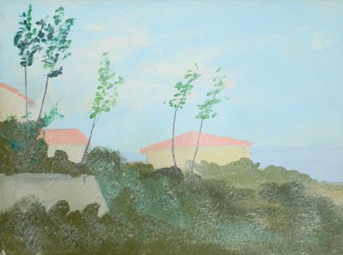 Art work by Giuseppe Innocenti Paesaggio  - oil canvas