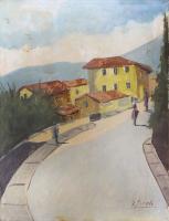 Work of G. Spinelli - Borgata di paese  oil canvas