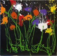 Work of Carlo Bosi - Fiori enamel canvas