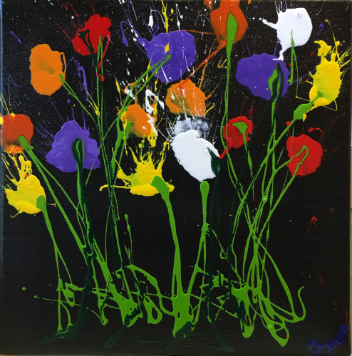 Art work by Carlo Bosi Fiori - enamel canvas