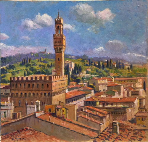 Art work by Giacomo Vaccaro Firenze - oil table