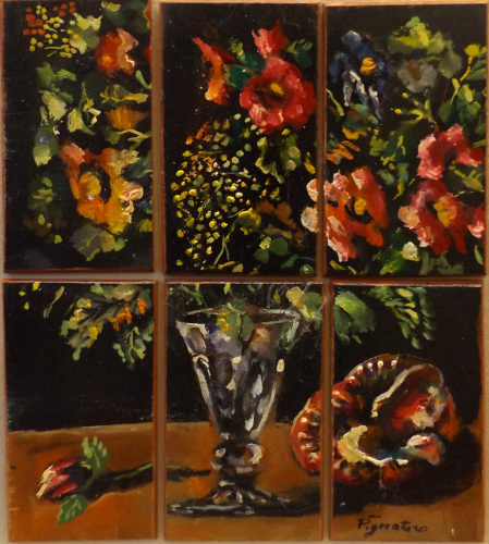 Art work by Luigi Pignataro Composizione di fiori - oil table