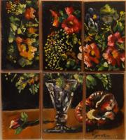 Work of Luigi Pignataro - Composizione di fiori oil table