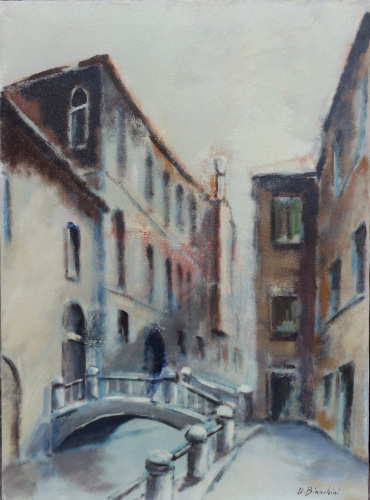 Art work by Umberto Bianchini Venezia - San Tomà - oil canvas