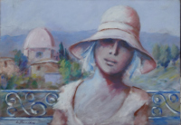 Work of Umberto Bianchini - Balcone  oil canvas