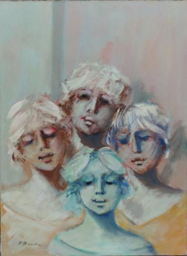 Quadro di Umberto Bianchini Ragazza, mista su tela 70 x 50 | FirenzeArt Galleria d'arte