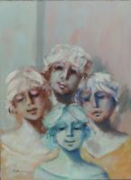 Work of Umberto Bianchini - Ragazza mixed canvas