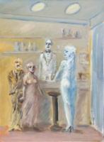 Work of Umberto Bianchini - Nottamboli  oil canvas