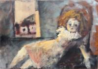 Work of  Anonimo 900 - Bambola alla finestra  oil canvas