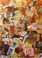 Quadro di Andrea Tirinnanzi - Parole collage tavola