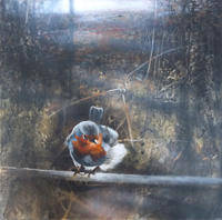 Quadro di Paolo Nuti - ... in una fredda giornata d'inverno olio tavola