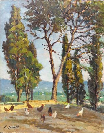 Quadro di Amleto  Danti Paesaggio - Pittori contemporanei galleria Firenze Art