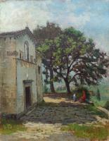 Quadro di Amleto  Danti - Casa coloniale olio compensato