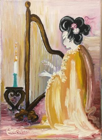 Quadro di Rosaria Catalani Geisha - olio tela