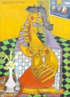 Quadro di Paolo da San Lorenzo - Solange olio tela