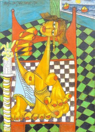 Quadro di Paolo da San Lorenzo La vanitosa - olio tela