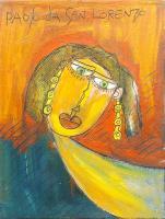Quadro di Paolo da San Lorenzo - La Baronessa olio tela