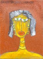 Quadro di Paolo da San Lorenzo - Baronessa olio tela