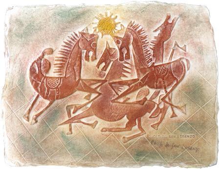 Quadro di Paolo da San Lorenzo Senza titolo - mista carta ad alta grammatura
