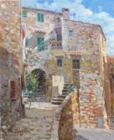 Quadro di Graziano Marsili - Campiglia Marittima olio tela