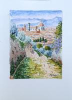 Quadro di Giuliano Piazzini - Firenze primaverile acquerello carta